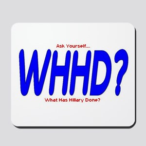 What Has Hillary Done Mousepad