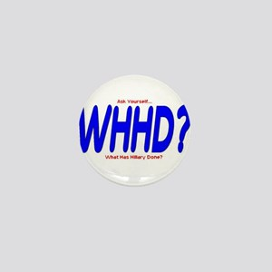 What Has Hillary Done Mini Button