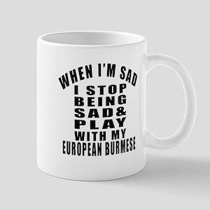 Play With European Burmese Cat Mug