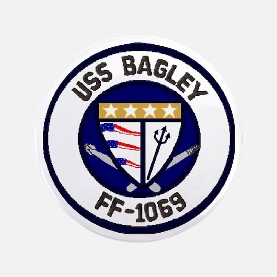 """USS Bagley FF-1069 3.5"""" Button"""
