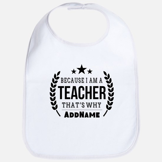 Gifts for Teachers Personalized Bib