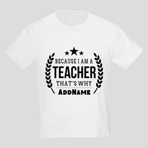 Gifts for Teachers Personalized Kids Light T-Shirt