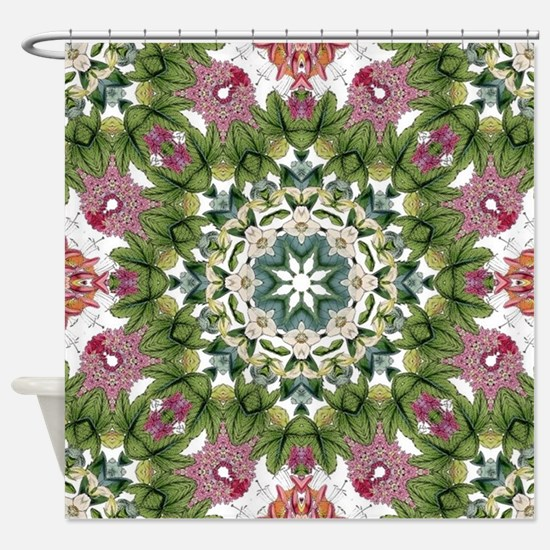 Cute Botanical Shower Curtain