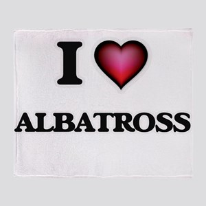 I Love Albatross Throw Blanket