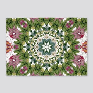 bohemian Chic boho floral 5'x7'Area Rug