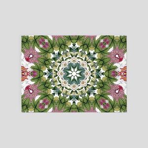 bohemian Chic boho floral 5'x7'Area Rug