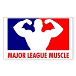 Major League Muscle Sticker