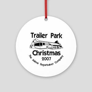 This Season's Colors Trailer Park Ornament (Round)