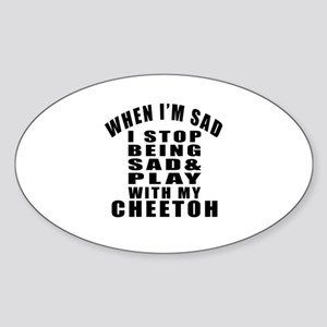 Play With Cheetoh Cat Sticker (Oval)