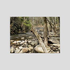 Smoky Mountains Stream 5'x7'Area Rug