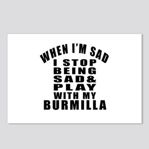 Play With Burmilla Cat Postcards (Package of 8)
