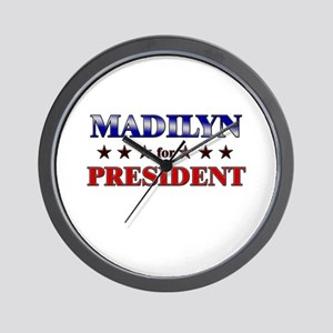 MADILYN for president Wall Clock
