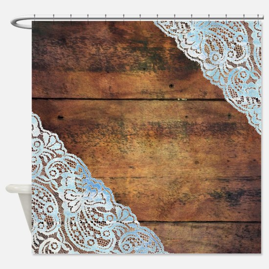 Cute Lace Shower Curtain