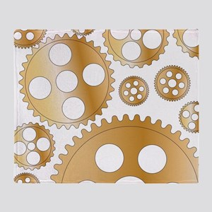 Cogs and Gears Throw Blanket