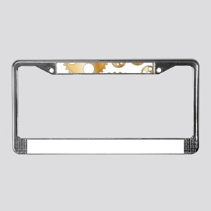Cogs and Gears License Plate Frame