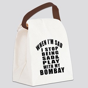 Play With Bombay Cat Canvas Lunch Bag