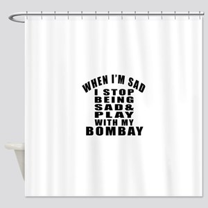 Play With Bombay Cat Shower Curtain