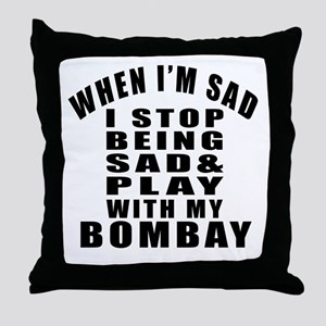 Play With Bombay Cat Throw Pillow