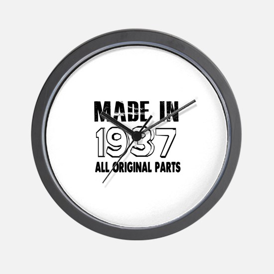 Made In 1937 Wall Clock