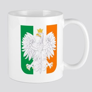 Polish Irish Coat of Arms Mugs