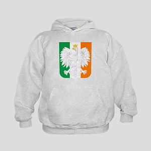 Polish Irish Coat of Arms Kids Hoodie