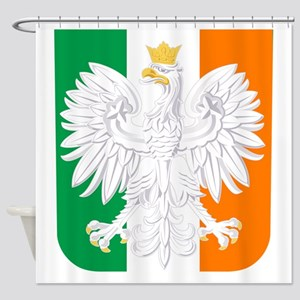Polish Irish Coat of Arms Shower Curtain