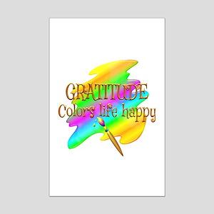Gratitude Colors Life Happy Mini Poster Print