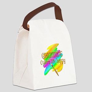 Gratitude Colors Life Happy Canvas Lunch Bag