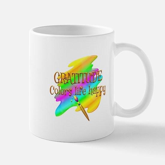 Gratitude Colors Life Happy Mug