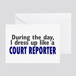 Dress Up Like A Court Reporter Greeting Card