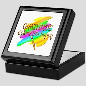 Gratitude Colors Life Happy Keepsake Box