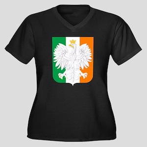Polish Irish Coat of Arms Plus Size T-Shirt