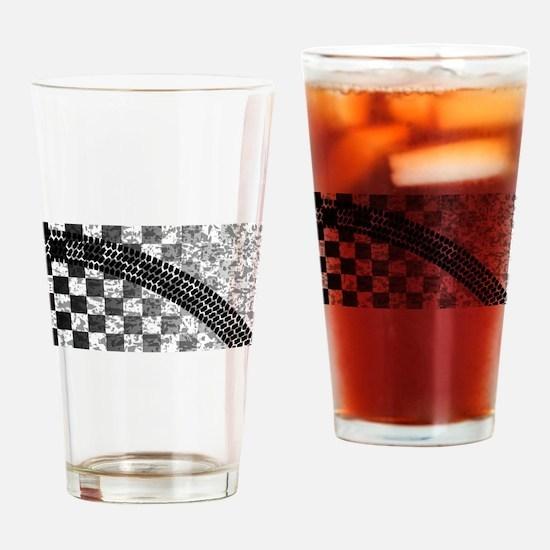 Flag Skid Mark Drinking Glass