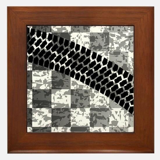 Flag Skid Mark Framed Tile