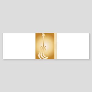 Acoustic Paper Cutout Bumper Sticker