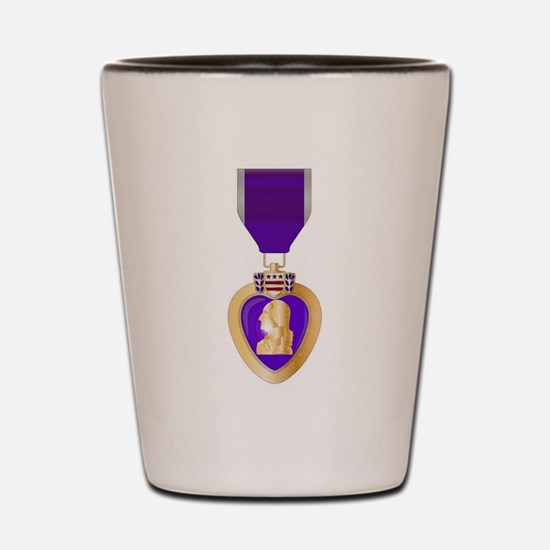 Purple Heart Medal Shot Glass