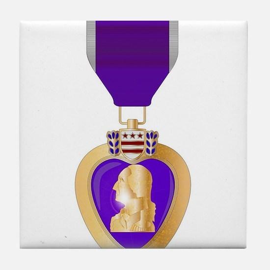 Purple Heart Medal Tile Coaster