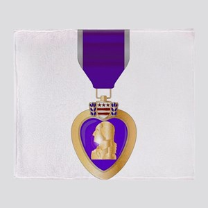 Purple Heart Medal Throw Blanket