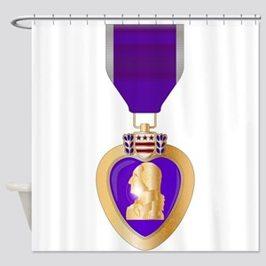 Purple Heart Medal Shower Curtain