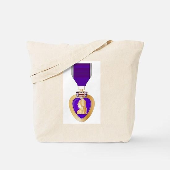 Purple Heart Medal Tote Bag