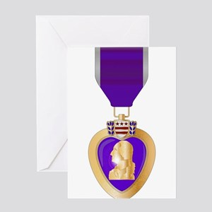 Purple Heart Medal Greeting Cards