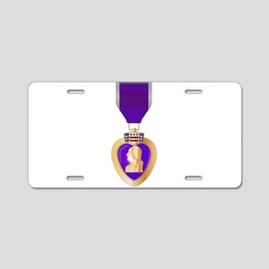 Purple Heart Medal Aluminum License Plate