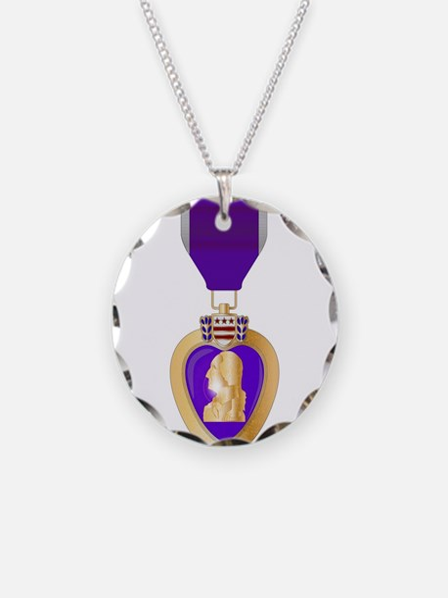 Purple Heart Medal Necklace
