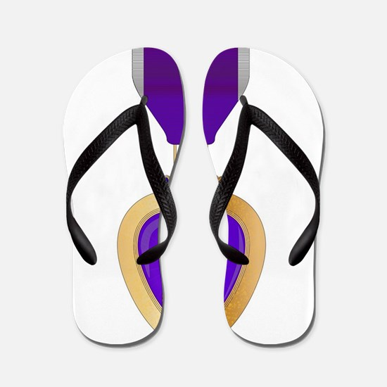 Purple Heart Medal Flip Flops