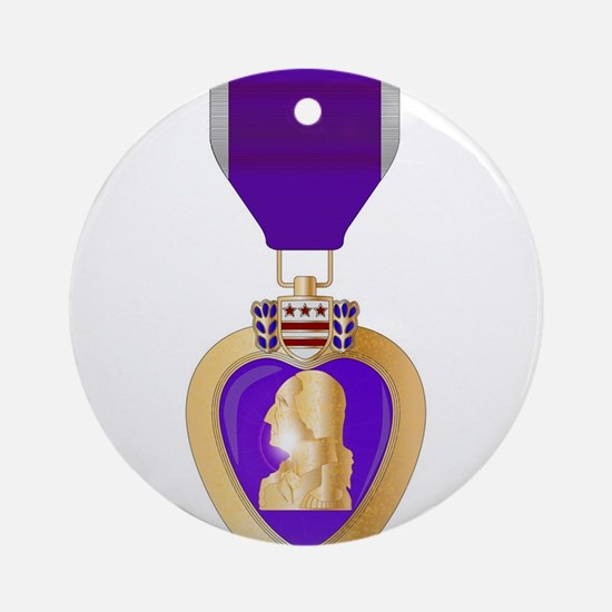 Purple Heart Medal Round Ornament