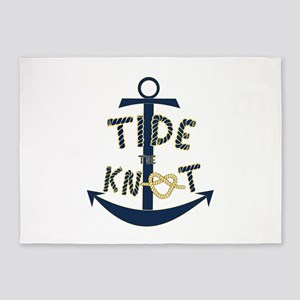 Tide the knot anchor 5'x7'Area Rug