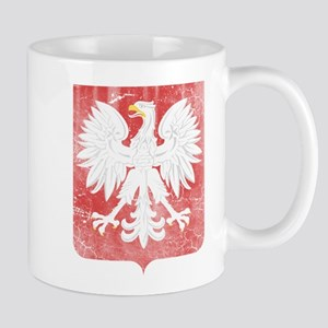 Vintage Polish Coat of Arms No Crown Mugs