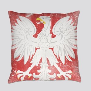 Vintage Polish Coat of Arms No Cro Everyday Pillow