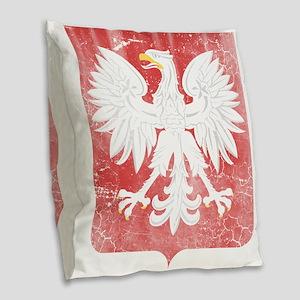 Vintage Polish Coat of Arms No Burlap Throw Pillow