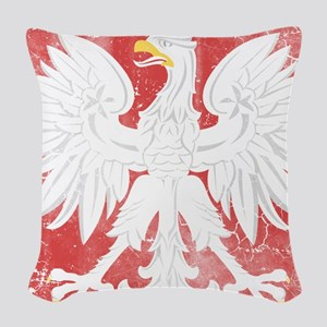 Vintage Polish Coat of Arms No Woven Throw Pillow